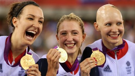 Women's Team Pursuit gold medal winners